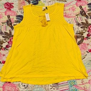 Anthropologie Yellow Top Size: S New With Tag